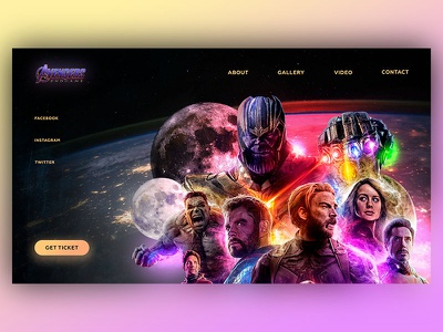 Avengers end game! Web design photoshop marvel studios marvel iron man website web dribbble concept design avengers avengersendgame