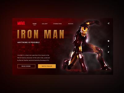 Ironman concept web ui shot design