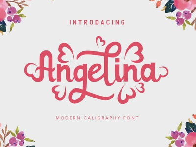 Angelina funy wedding invitation wedding font awesome freebies freebie font design font digital product