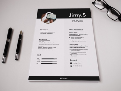 CV Resume resume template resume design resume cv digital product