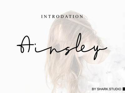 Ainsley-signature brochure template resume cv free font digital product font awesome freebies font freebie design logo