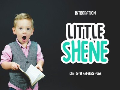 littleshine-sanserif-typefacefont new year typeface display font sanserif font design cute fun unicorn