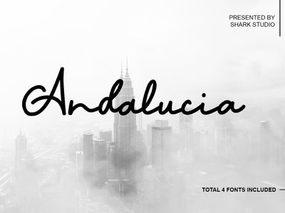 andalucia handlettering caligraphy company profile design freebie freebies digital product font design font