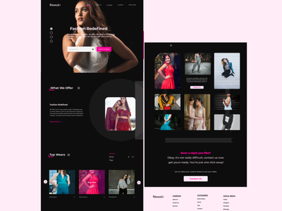 Fashion website landing page business fashion fashion website dailyui web landing page ui design landing page landing page design design interface design