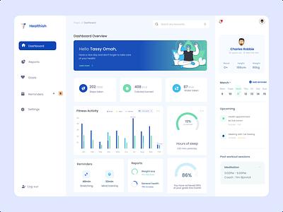Dashboard for a health app design web ui interface design dashboard design health app dashboard