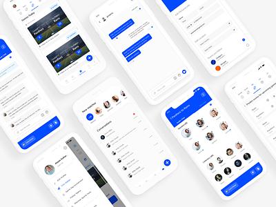 SportsYapp mobile app redesign app design sports platform sports app design uiux design mobile app sports app sports