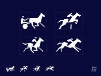 Horse Race Disciplines vector design icon