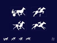Horse Race Disciplines vector design icon