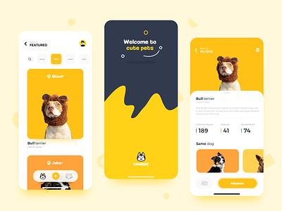 PET FAMILY mobile ux ui app design
