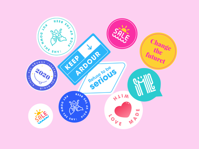 Stashally Stickers type icon app mobile ux ui illustrator logo design illustration