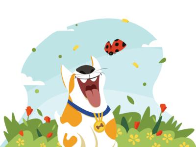 Dog & Ladybug