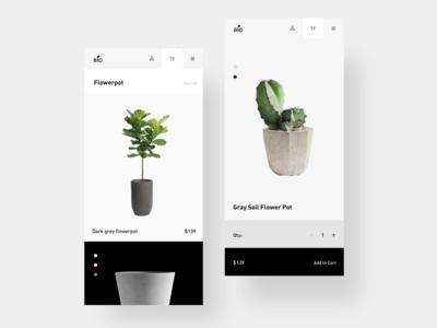 Flower pot page design