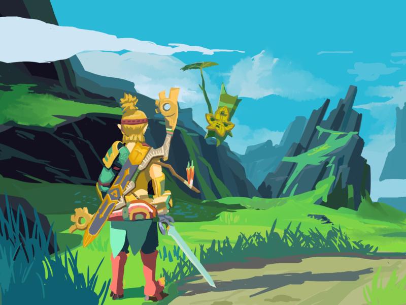 Link and Yahaha branding illustration design