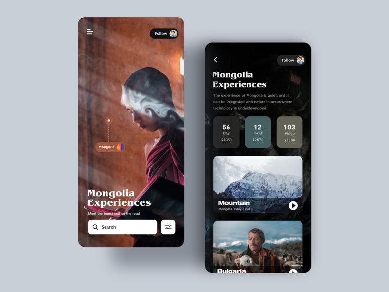 Travel diary ux app illustration design ui