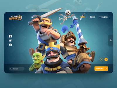 Clash Royale Web Design