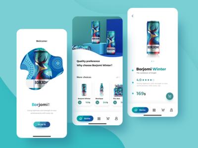 Borjomi Winter App Design