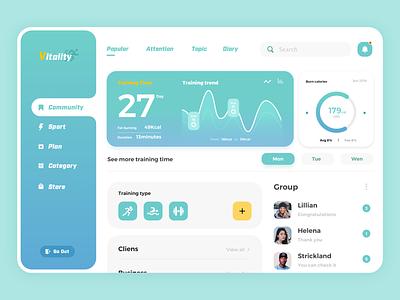 Vitality Web Design app website web ux ui illustration design