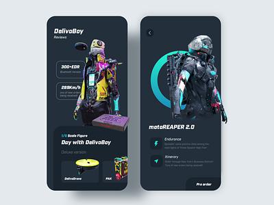 Delivoboy mobile ux ui app illustration design