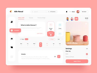 Pottery Web Design website web ux ui app design