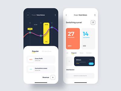 Data statistics mobile ux ui app design