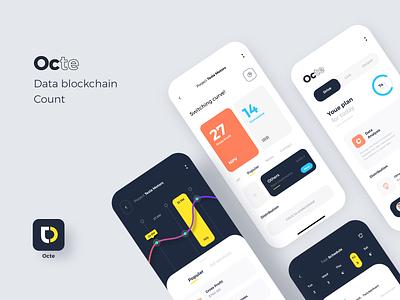 Octe Data statistics mobile ux ui app design