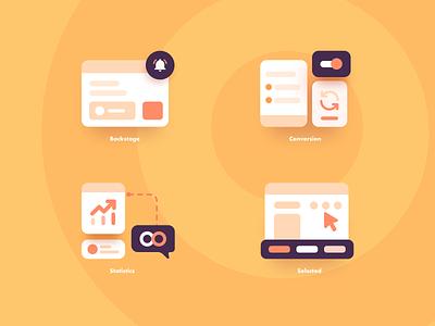 Background data Icon illustrator icon app ux ui design