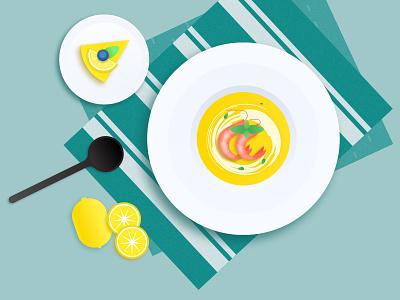 Seafood Soup lemon cake soup prawn