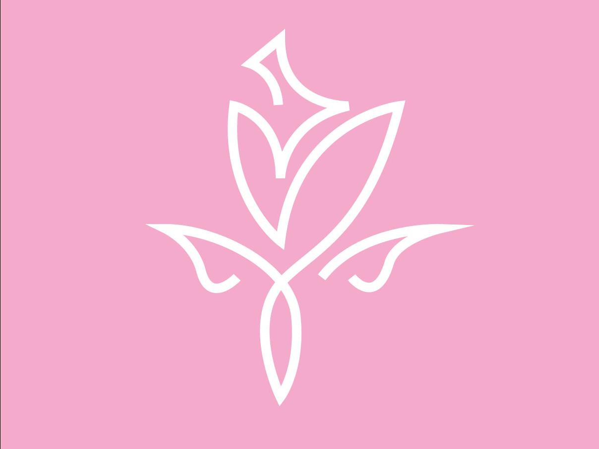 Rose #2 minimal flat illustration icon rose logotype logogram line branding logo