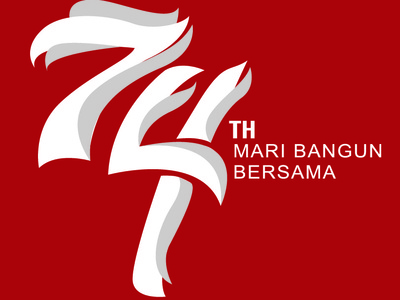 INDEPENDENCE DAY Logo of INDONESIA 74th year #1