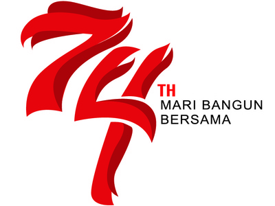 INDEPENDENCE DAY Logo of INDONESIA 74th year #2