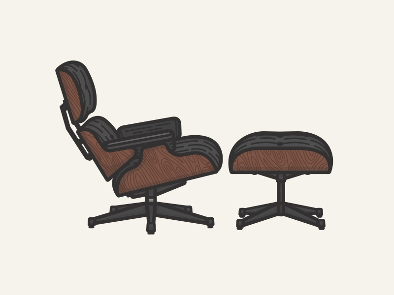 Swell Vitra Eames Lounge Chair By Chrsss For Pooliestudios On Dribbble Theyellowbook Wood Chair Design Ideas Theyellowbookinfo