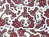 Skull & Dagger Stickers