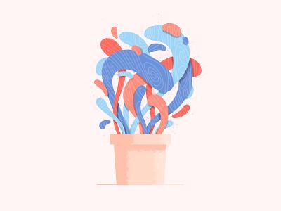 Wild Plant wild experiment illustration vector pot flower plant