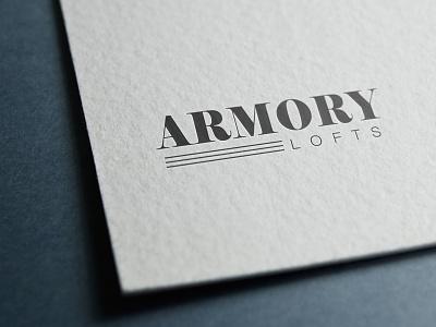 Logo Design for Armory Lofts in Philadelphia design branding logo