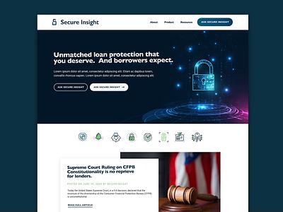 Website & Logo Design for Secure Insight