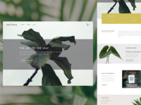 Leaf Finery Landing Page
