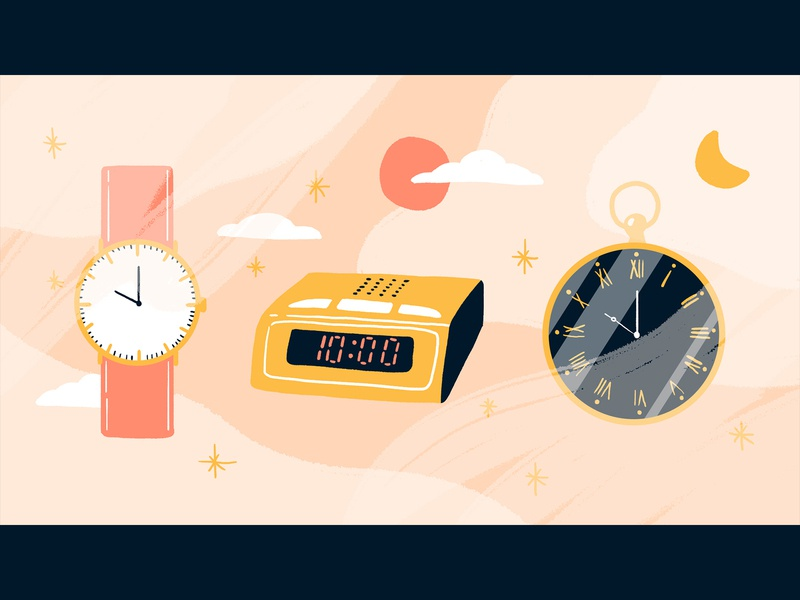 The story of time timer night day clock watch time