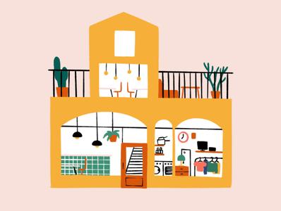 Third place shop coffee café building