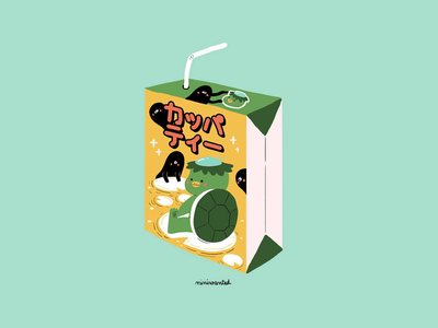 Kappa Tea drink drinks packaging japanese japan demon monster yokai kappa