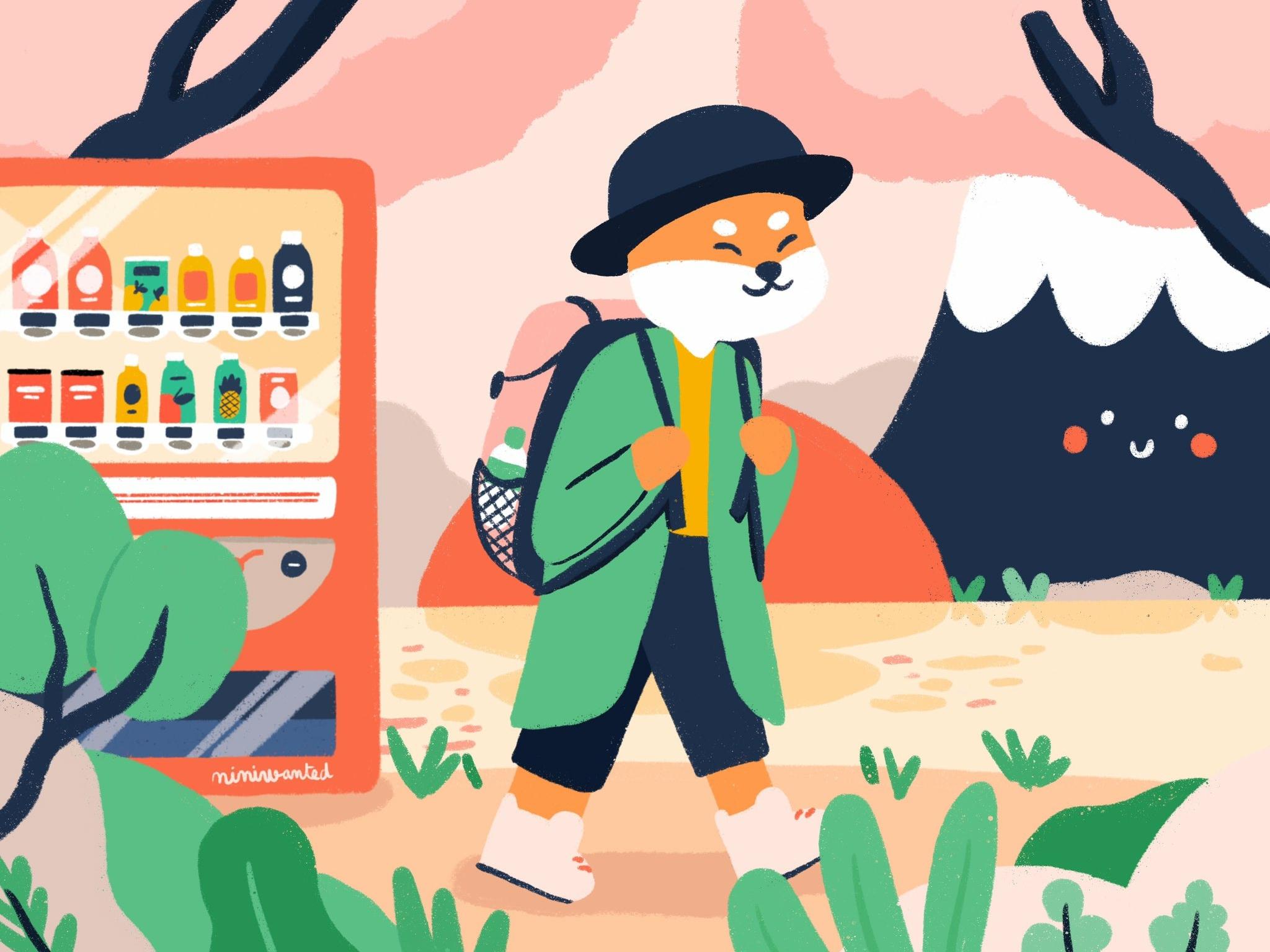 Jenny lelong hiking japan