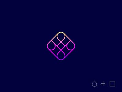 SquareDrop Logo typography photos app logo icons icon gallery app design app logo app icon app square