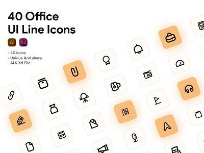 Office Icon set xd vector ui icons set icon pack iconset office icon icon st icon design iconography icons icon set identity illustrator designs ios icon design