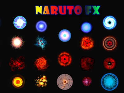 Naruto FX game blast game asset animated effects mobile action sprite sheet cartoon fantasy