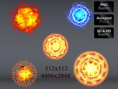 Alchemy Explosion FX adventure blast game game asset effects action design mobile sprite sheet fantasy