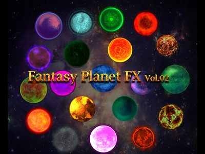 FANTASY PLANET FX VOL.02 space planet particles mobile games magical fx magic games effects fx fantasy energy alien adventure