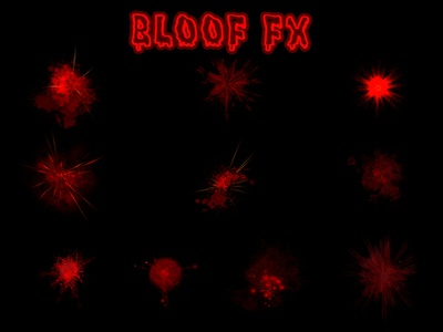 Blood FX star effects sprite sheet spotlight spot light sci-fi red particles effects magic liquid isolated hits game effects fx effects blood blast