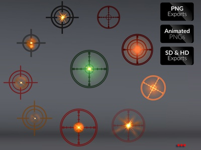 TARGET SHOOT FX game action illustration effects blast mobile game asset sprite sheet