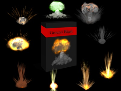 GROUND BLAST sprite sheet sci fi particles effects magic lights isolated ground blast game effects fx fantasy blast effects anime