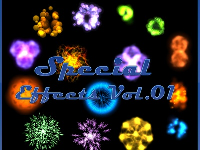 Special Effects Vol.01 game asset sprite sheet games effects flares explosions energy effects burst bundles blast animated action abstracts