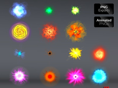 Special Effects Vol.02 animated game asset energy magic blast adventure illustration sprite sheet effects